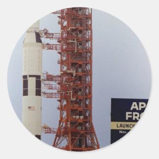 NASA Apollo 15 Saturn V roll out Classic Round Sticker