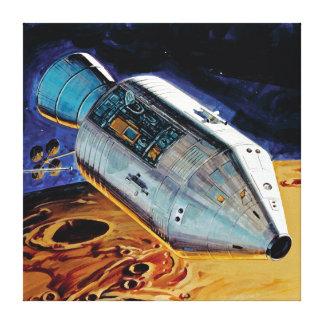 NASA Apollo 15 Subsatellite Lunar Orbit Artwork Canvas Print