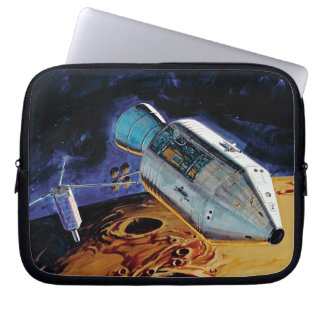 NASA Apollo 15 Subsatellite Lunar Orbit Artwork Computer Sleeve