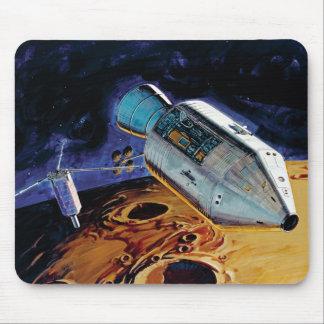 NASA Apollo 15 Subsatellite Lunar Orbit Artwork Mouse Pad