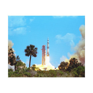 NASA Apollo 16 Saturn V Rocket Launch Canvas Print