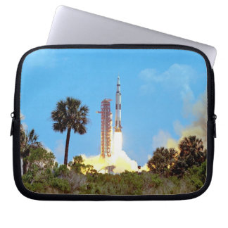NASA Apollo 16 Saturn V Rocket Launch Computer Sleeve