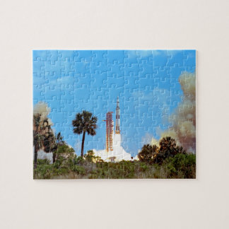 NASA Apollo 16 Saturn V Rocket Launch Jigsaw Puzzle