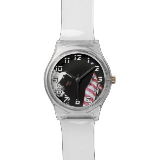 NASA Apollo 17 Astronaut Flag Earth Moon Photo Wrist Watch