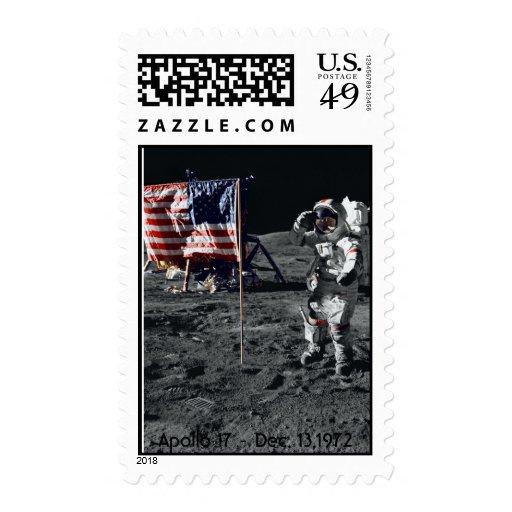 NASA Apollo 17 - Dec. 13,1972 Postage Stamps
