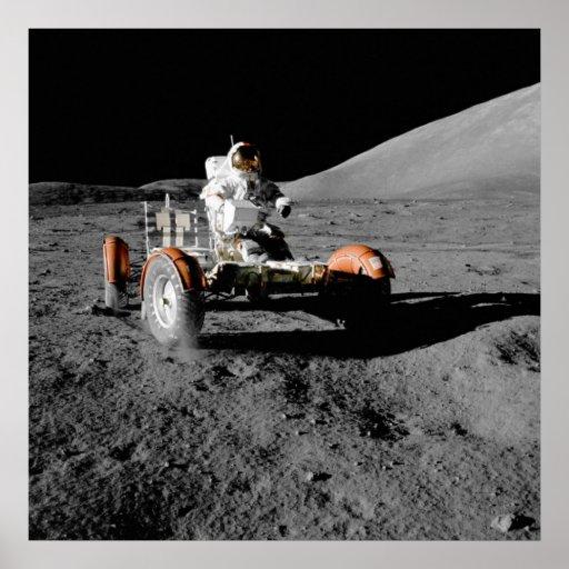 NASA Apollo 17 Lunar Roving Vehicle Poster