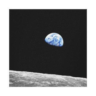 NASA Apollo 8 Earthrise Moon Lunar Orbit Photo Canvas Print