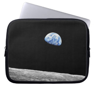NASA Apollo 8 Earthrise Moon Lunar Orbit Photo Laptop Sleeve