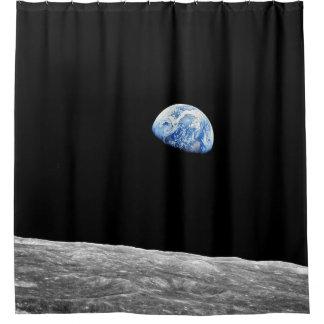 NASA Apollo 8 Earthrise Moon Lunar Orbit Photo Shower Curtain