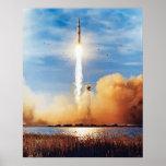 NASA Apollo 8 Rocket Launch Kennedy Space Center Poster