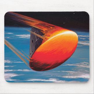 NASA Apollo Command Module Space Capsule Artwork Mouse Pad
