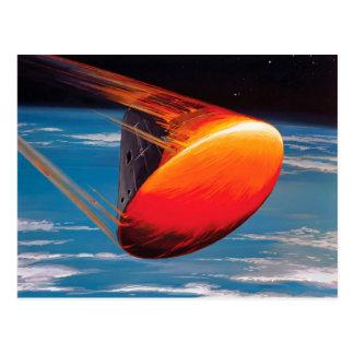 NASA Apollo Command Module Space Capsule Artwork Postcard