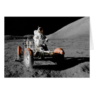 NASA Apollo seventeen Lunar Roving Vehicle Card