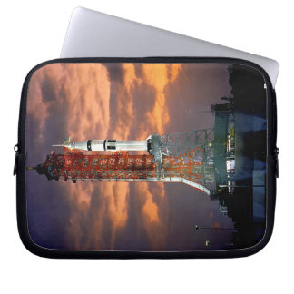 NASA Apollo Soyuz Launch Vehicle Sunrise Launchpad Laptop Sleeve