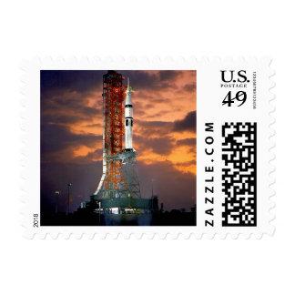 NASA Apollo Soyuz Launch Vehicle Sunrise Launchpad Postage
