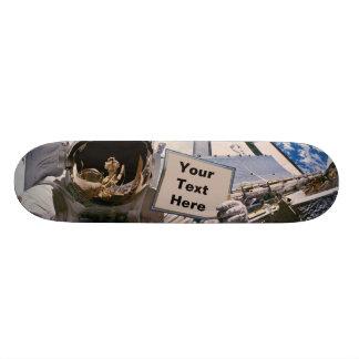 NASA Astronaut Holding Sign - Add Custom Text Skateboard Deck