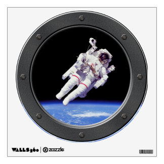 NASA Astronaut Jetpack Spacewalk Porthole Window Wall Decal