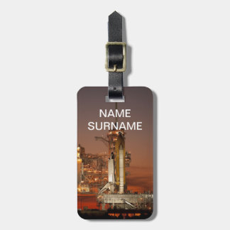 NASA Atlantis Space Shuttle launch Luggage Tag