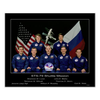 NASA Crew of the STS-79 Shuttle Mission - 1996 Print