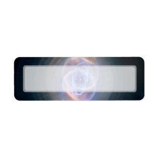 NASA de Hubble de la nebulosa del ojo de gato Etiqueta De Remite