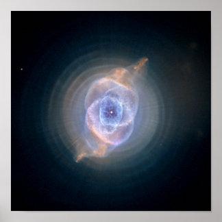 NASA de Hubble de la nebulosa del ojo de gato Póster