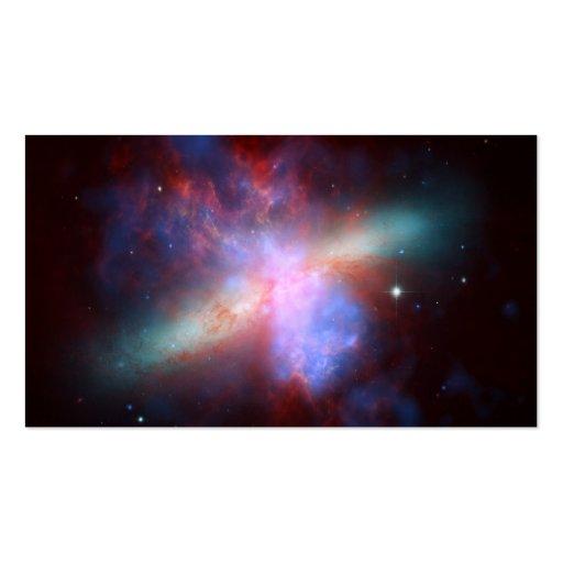 NASA de la galaxia M82 Hubble Tarjetas De Visita