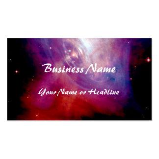 NASA de la nebulosa de cangrejo Tarjetas De Visita