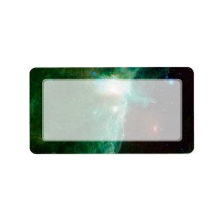 NASA de la nebulosa de la llama Etiquetas De Dirección