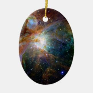 NASA de la nebulosa de Orión Adorno Navideño Ovalado De Cerámica