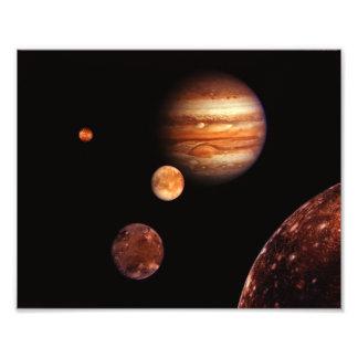 NASA de los satélites galileos de Júpiter Impresión Fotográfica