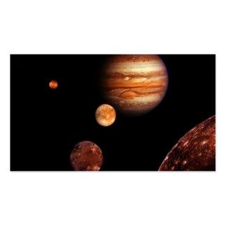NASA de los satélites galileos de Júpiter Tarjetas De Visita