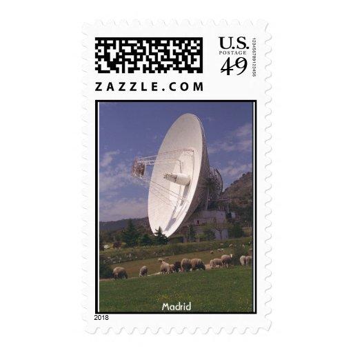 NASA Deep Space Communications - Madrid Postage