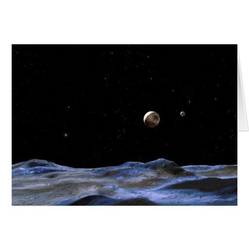 NASA del arte del espacio de Plutón Felicitación
