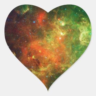 NASA del espacio de la nebulosa de Norteamérica Pegatina Corazon Personalizadas