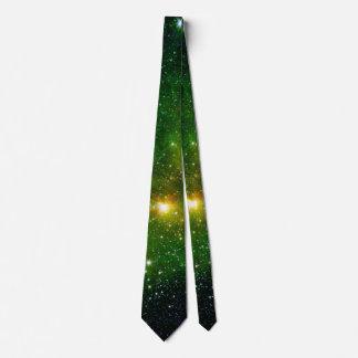 NASA del espacio del cielo del verde de la Corbatas Personalizadas