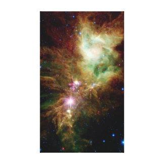 NASA del espacio del cúmulo de estrellas del copo  Lona Envuelta Para Galerías