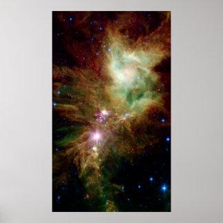 NASA del espacio del cúmulo de estrellas del copo  Póster