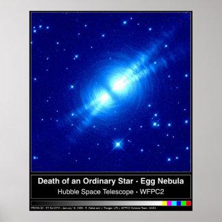 NASA del huevo o de la nebulosa del cacoon Posters