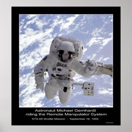NASA del misión en la que participa un trasbordado Poster