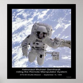 NASA del misión en la que participa un trasbordado Póster