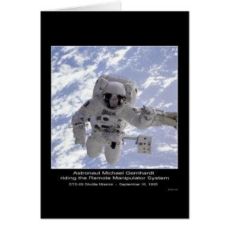 NASA del misión en la que participa un trasbordado Tarjeta De Felicitación
