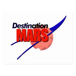 NASA Destination Mars Logo   Postcard