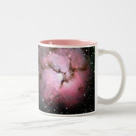 NASA Dusty Pink stars SSC2005 Two-Tone Coffee Mug