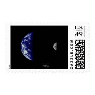 NASA Earth and Moon - Mariner 10 Stamp
