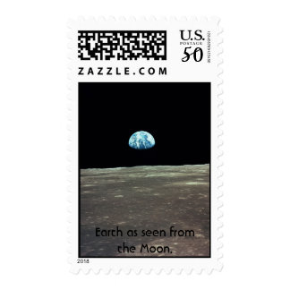 NASA Earth as seen from the Moon. Postage