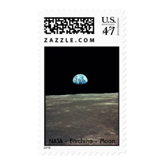 NASA Earthrise from the Moon Postage