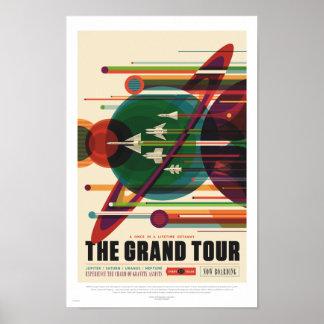 NASA - El viaje magnífico - poster retro del viaje Póster
