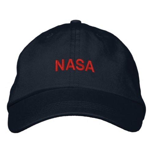 NASA EMBROIDERED BASEBALL HAT