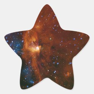 NASA estelar del nacimiento Pegatina En Forma De Estrella