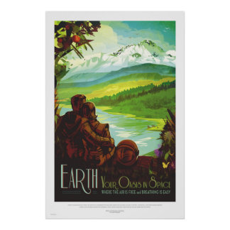 NASA - ExoPlanet Retro Earth Tour Travel Poster